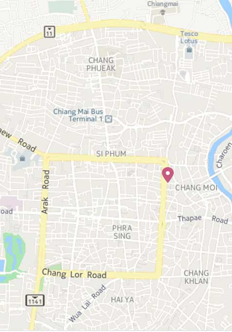 Click here ot view the best hostel in Chiang Mai on Google Maps